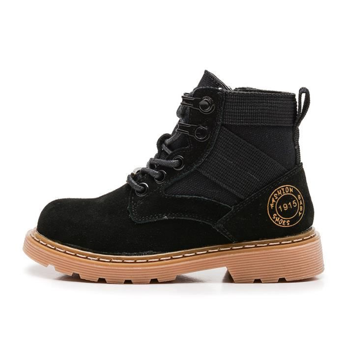 6eb04ae1daeee Bottes Enfants Chaussures Garçon Haute bottine Chaussures cuir Fille ...