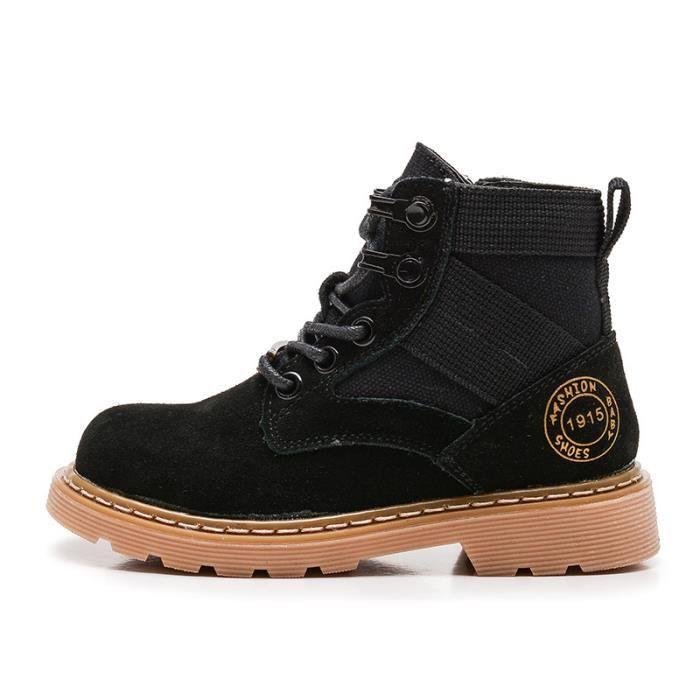 71a656bf06a8b Bottes Enfants Chaussures Garçon Haute bottine Chaussures cuir Fille ...