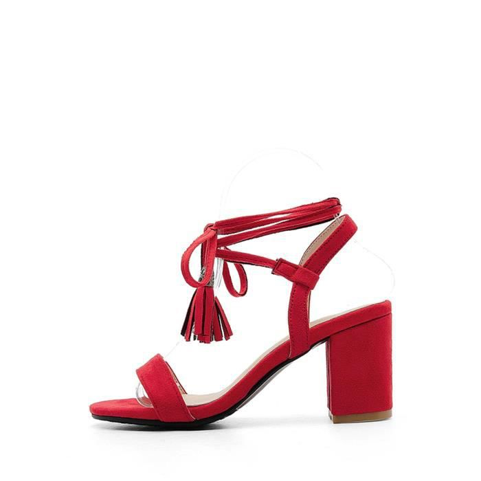 Sandales couleur unie Tassel Chaussures Ornement Strappy 4445260