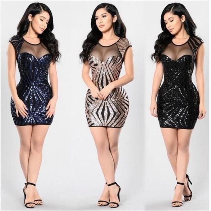 bcb5ea3359f Les nouvelles femmes d été Mode Mini Stripes Sexy Décolleté O cou ...