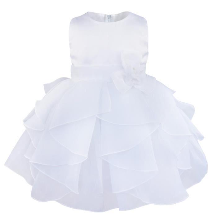 bd6341e2cf514 Robe de cérémonie - Filles enfant - Princesse fête Sans manches - De ...