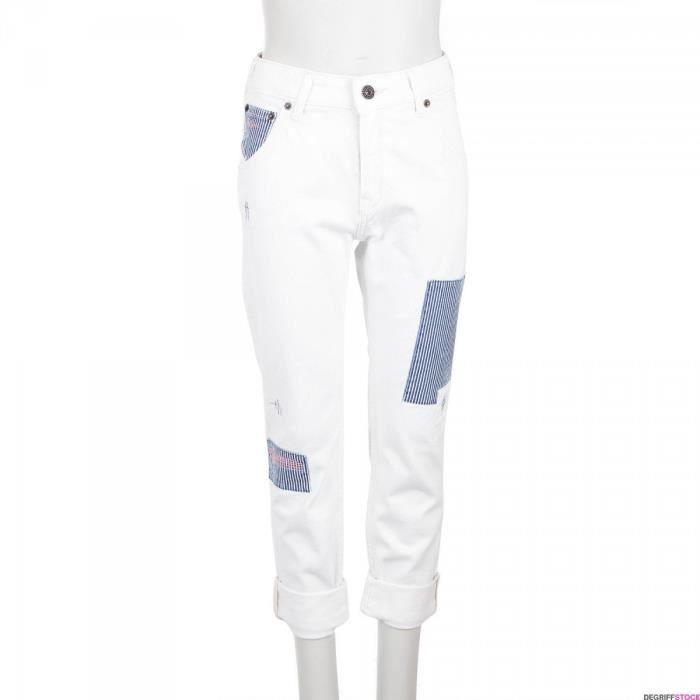 73344140d19f Jean boyfriend blanc fille Pepe Jeans Blanc Blanc - Achat   Vente ...