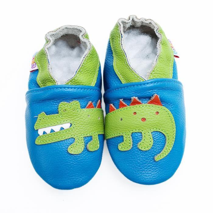 6b7eab7c72196 CHAUSSON - PANTOUFLE Chaussures Bébé en Cuir Souple Chaussons Bébé Chau