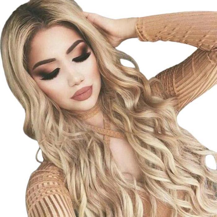 Perruque Femme Blonde Longue Postiches Femme