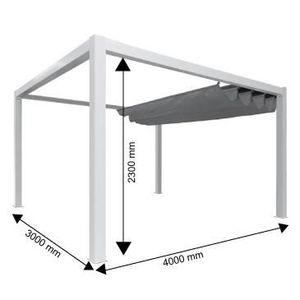 pergola en aluminium 4 x 3 achat vente pergola en aluminium 4 x 3 pas cher soldes d s le. Black Bedroom Furniture Sets. Home Design Ideas