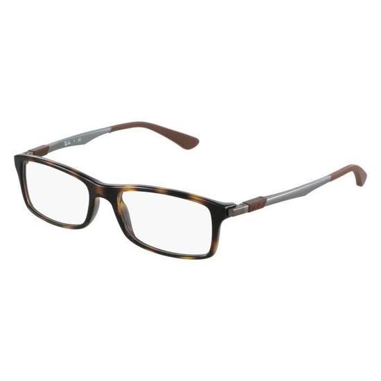 Lunettes de vue Ray Ban RX7017 -2012 Havane - Gris - Achat   Vente lunettes  de vue Lunettes de vue Ray Ban RX... Homme Adulte - Soldes  dès le 9  janvier ! b2457a07d2c1