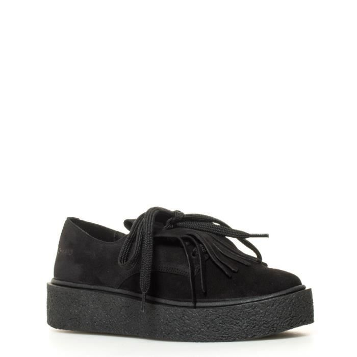 Chika10 - Jane chaussures plate-forme noir Taille: 3cm