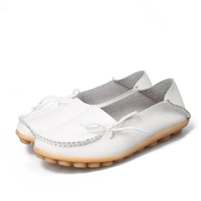 Mocassins en cuir évider Chaussures fourreau de conduite WFXP0 Taille-38 1-2 EE6CrgwGj