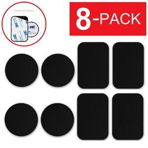 FIXATION - SUPPORT 8-PACK Plaques en métal adhésif autocollant rempla