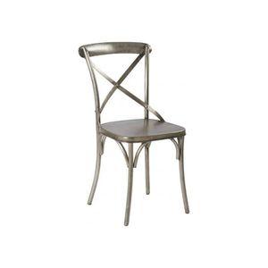 CHAISE Chaise De Restaurant En Mtal Gris