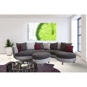 canap d 39 angle arrondi lind pouf achat vente canap sofa divan soldes d s le 9. Black Bedroom Furniture Sets. Home Design Ideas
