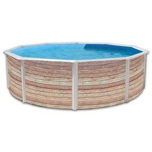 Piscine bois aspect bois achat vente piscine bois for Piscina trigano jardin