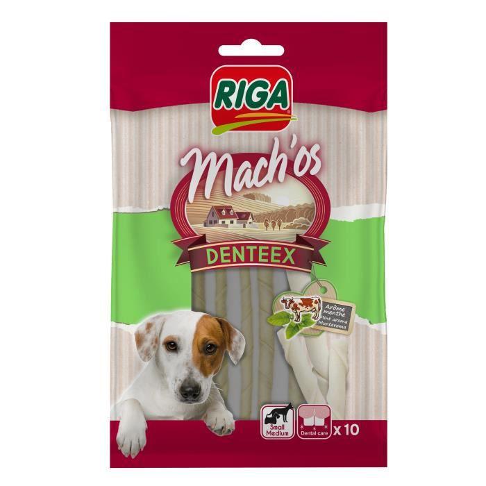RIGA - MACH'OS DENTEEX BÂTONNETS BLANCS MENTHE X 10 - SACHET 60 G