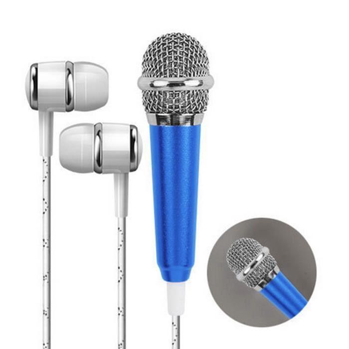 Mini Karaoke Microphone À Condensateur Avec Des Écouteurs Pour Téléphone Ordinateur Phonémique Marioyuzhang 5439