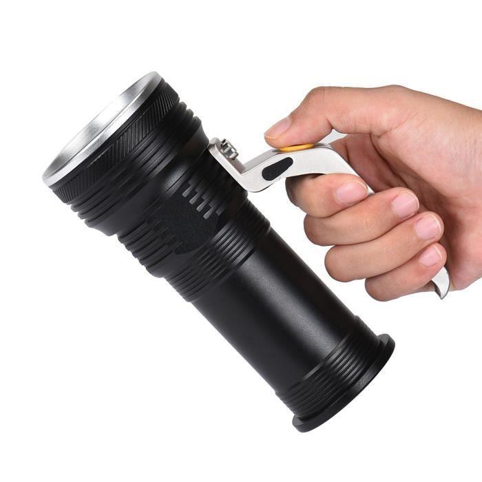 5cac57346df48c Ordinateur de poche XM-l T6 lampe torche projecteur LED lampes de poche  2pcs 18650 batterie Noir