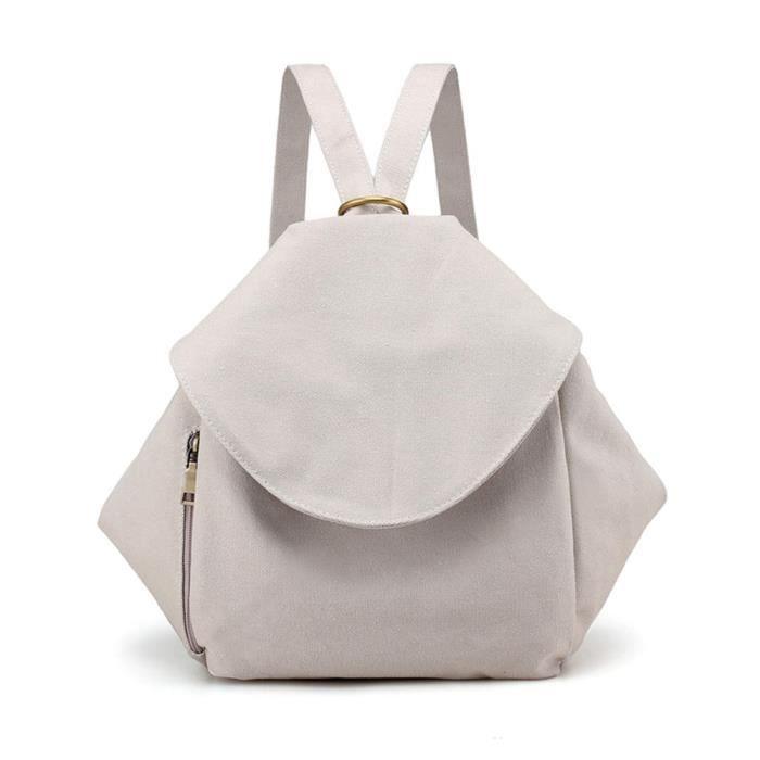 beige sac toile à mode toile en sauvage trois en décontractée dos sac 1286 Xw6Rvq7AO