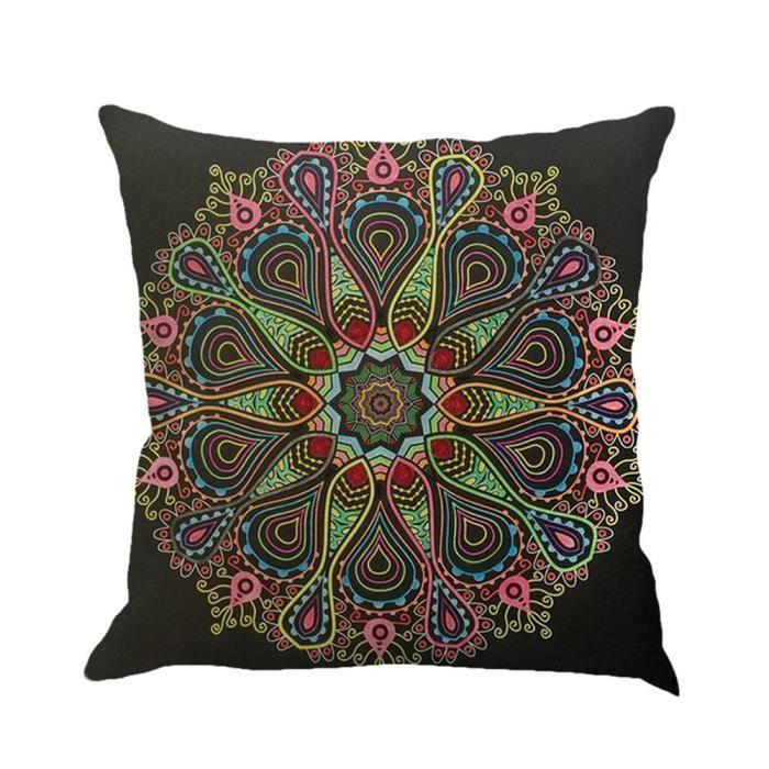 couverture d oreiller Couverture d'oreiller de géométrie de Bohême Type de D   Achat  couverture d oreiller
