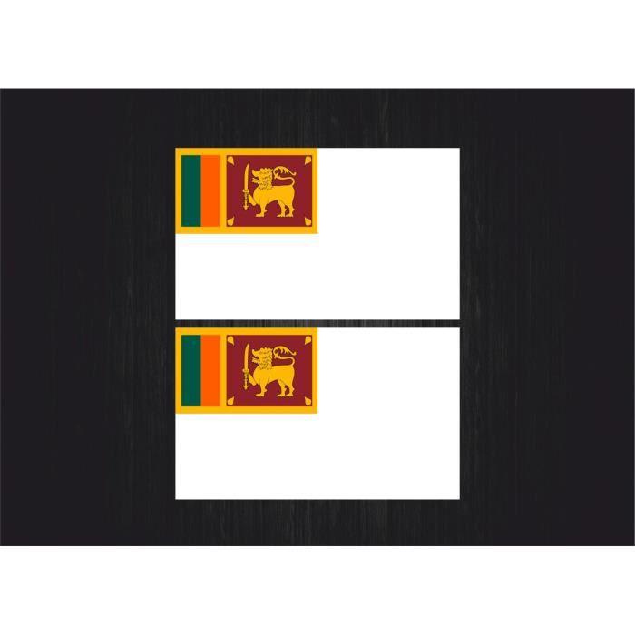 2x sticker autocollant naval drapeau sri lanka A