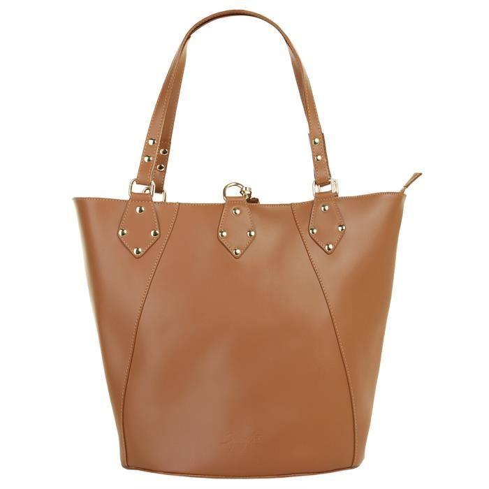 Samantha Look Sac shopping pour dames en cuir.