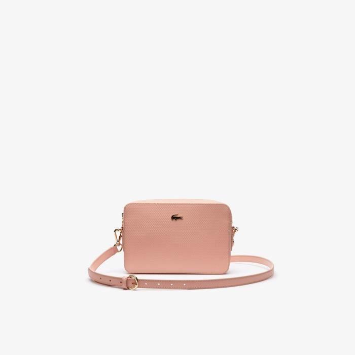 6154fdf9323 Lacoste - Petit sac bandoulière femme Chantaco (nf2731ce) mellow rose b86  taille 16 cm