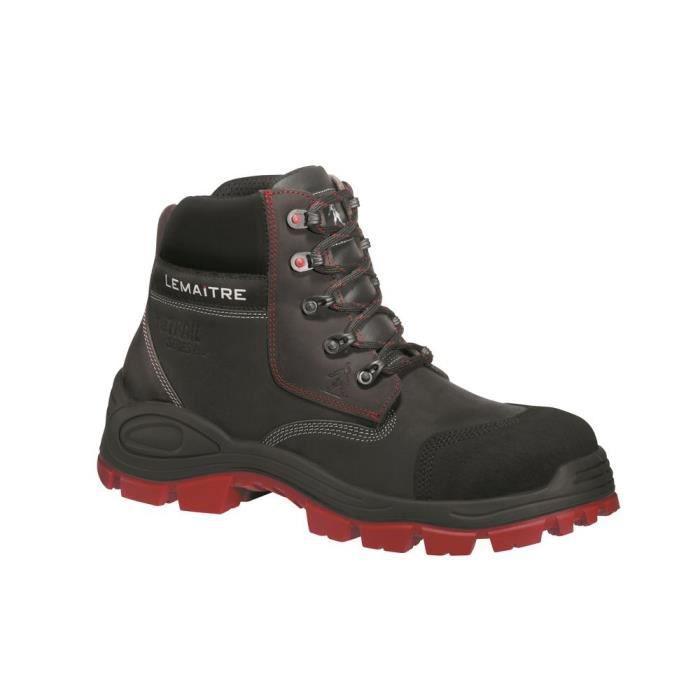 plus de photos plus bas rabais plus tard Chaussures de sécurité Lemaitre S3 Varadero CI SRC 100% non métalliques -  Noir/rouge - 38