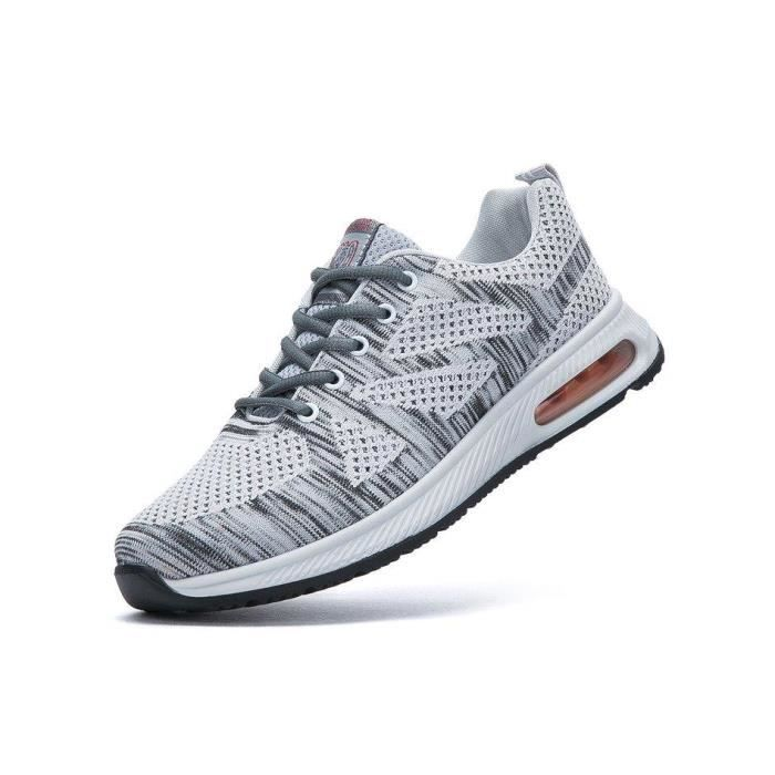Chaussure De Sport Confort Respirante Douceur Maille Respirante Homme gris R03573001_9902