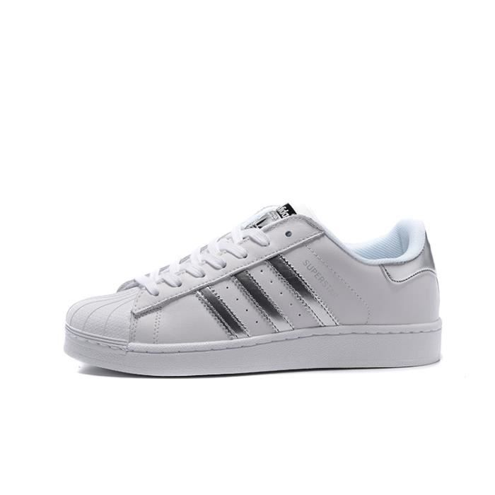 Superstar Adidas Homme Baskets Chaussures Basses Blancargent Aq3091 76ybgf