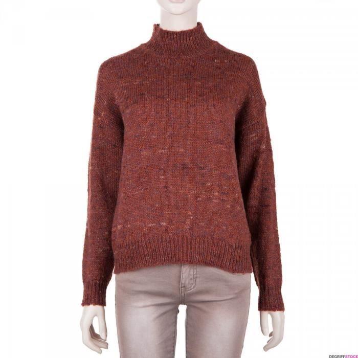 Pull col cheminée brique femme BEST MOUNTAIN - Couleur - ROUGE, Taille  Vêtement - 36 e17bc5a19736