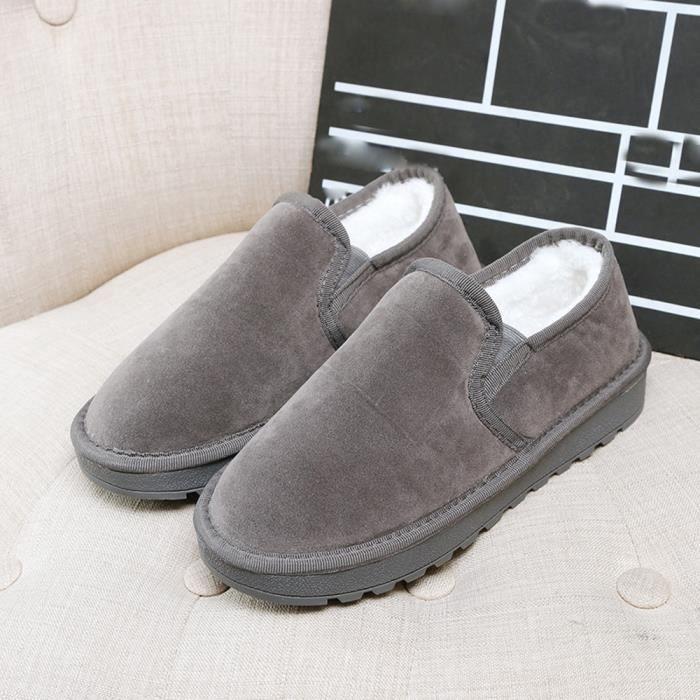 Bordée Chaud De Neige Fourrure D'hiver wll8815 Mode Femme Bottes Plates Lazy Chaussures Bottines 4qqYOw1