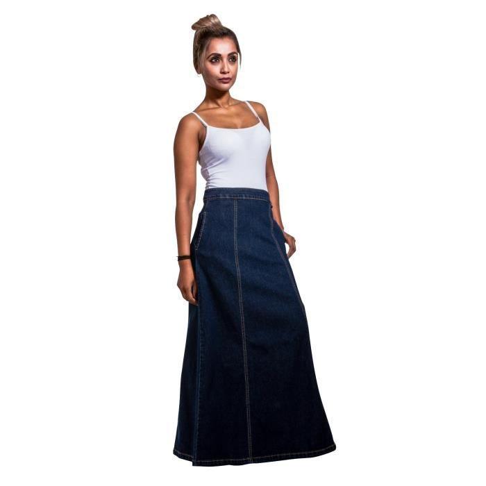 1db412a0d180cf Jupe jean longue femme - Achat / Vente pas cher