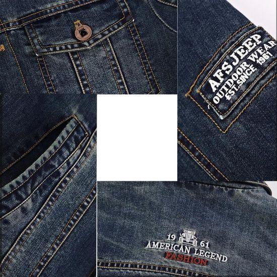 Veste Hommes En Jeans Droite Denim Coton Manteau Pour Homme Coupe 5gSgpwUqx