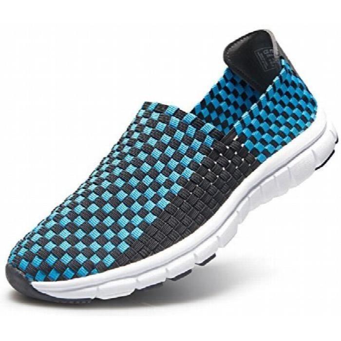 Unisexe Ultra léger multicolore tissé Sneaker Slip-on chaussures V471 - V472 - V473 - V474 P8CQ9 Taille-40 1-2