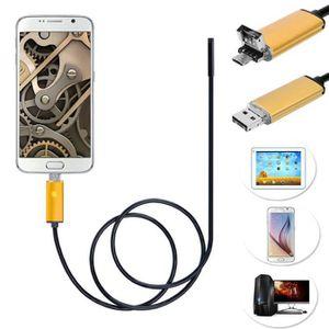 ENDOSCOPE NUMÉRIQUE 2 en 1 USB Endoscope Android Inspection Caméra 7mm
