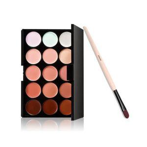 PALETTE DE MAQUILLAGE  Boolavard Foundation Brush + 15 Colours Face Conto
