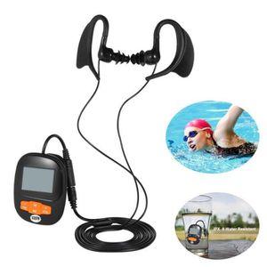 LECTEUR MP3 Lecteur Mp3 Etanche IPX8 Baladeur Mp3 Sport 8Go po