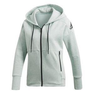 Veste sport femme zipee a capuche adidas - Achat   Vente pas cher 08490c3f89cd