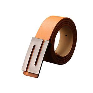 ... Ceintures Boucle de ceinture marron. CEINTURE ET BOUCLE Hommes femme  boucle automatique ceinture en cuir B 7e2dad8bd1e