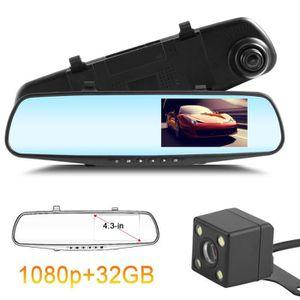 BOITE NOIRE VIDÉO Caméra de recul dashcam 1080p rétroviseur avec 4.3