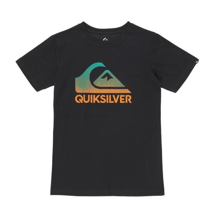 QUIKSILVER T-shirt garçon Acide Spary - Noir