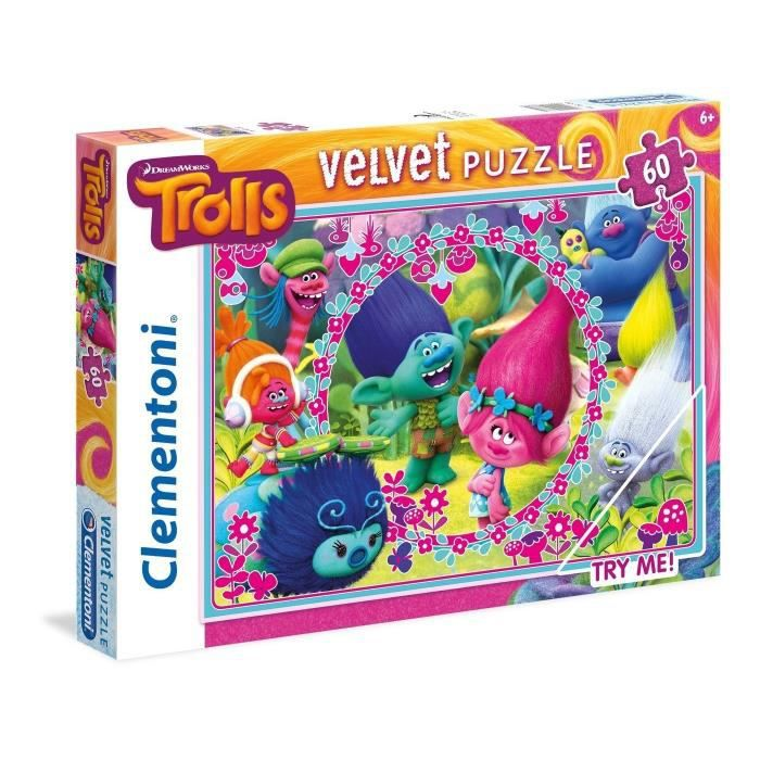CLEMENTONI Trolls Puzzle velours 60 piècesPUZZLE