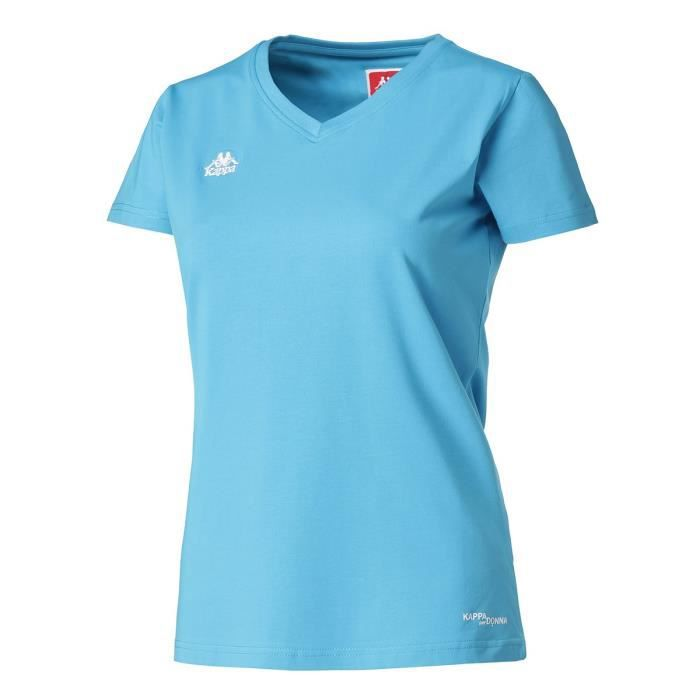 KAPPA T-shirt Manches Courtes - Femme - Turquoise