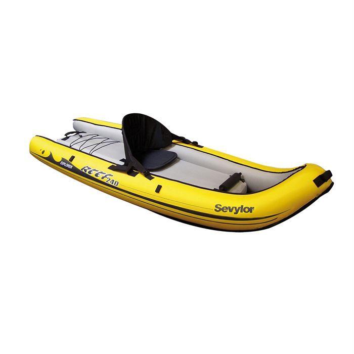 SEVYLOR Kayak Gonflable Sit on Top Reef 240 - 1 place - Jaune et Noir