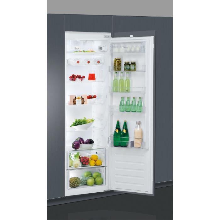 WHIRLPOOL ARG18070A+ - Réfrigérateur encastrable, 177,6 cm, 318 L, Blanc, A+, Charnières glissières,
