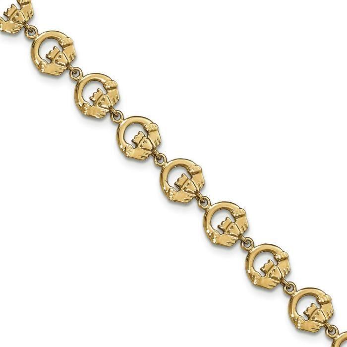 Bague de Claddagh 14 carats Bracelet 7,5 cm