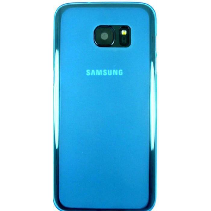 coque samsung galaxy s7 silicone bleu