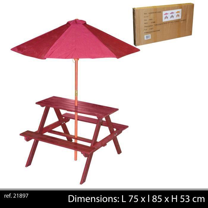 table enfant bois pour jardin - achat / vente table enfant bois