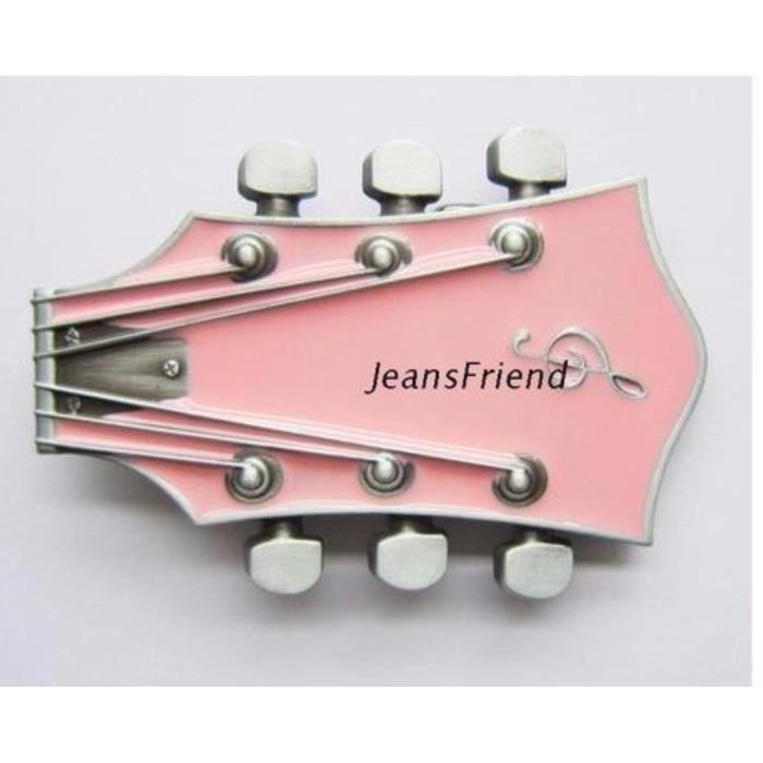 501b0dbc57dc Boucle ceinture western country cowboy frette de guitare rose cut ...