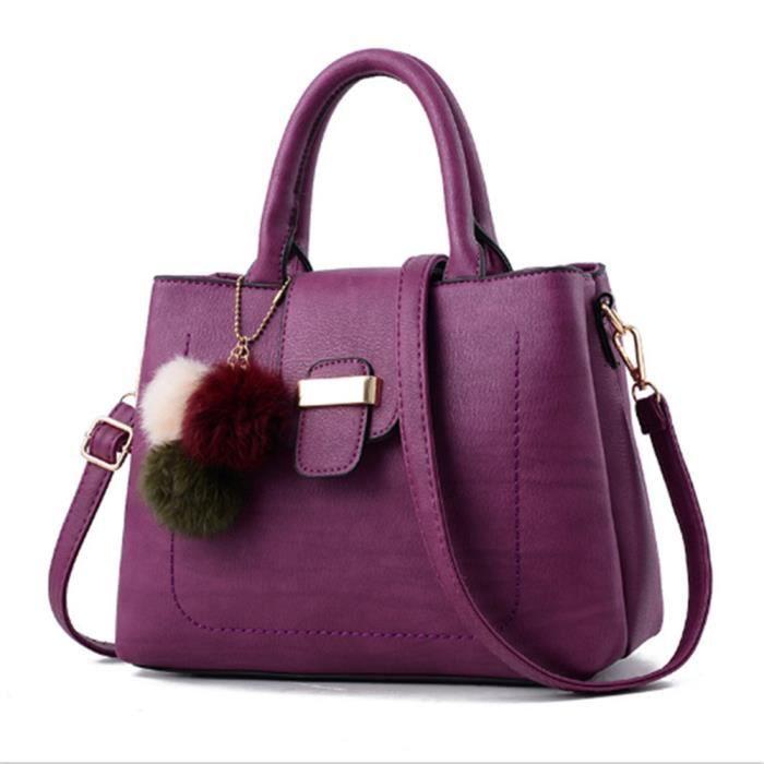 4b2cd261a4 sac femme de marque violet sac à main femme 2018 Sac Femme En Cuir sacs de  marque de luxe en cuir veritable femme sac cuir chaine,