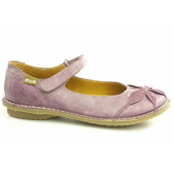 5fd442e53374df Ballerines originales en cuir 8068 Alce shoes Violet - Achat / Vente ...