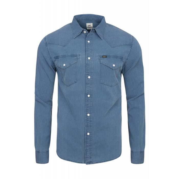 Homme Bleu Achat L643hxqy Lee Shirt Chemise Western 7TTwIqt